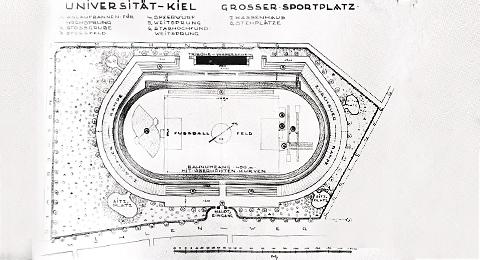 Skizze Großer Universitätssportplatz 1929