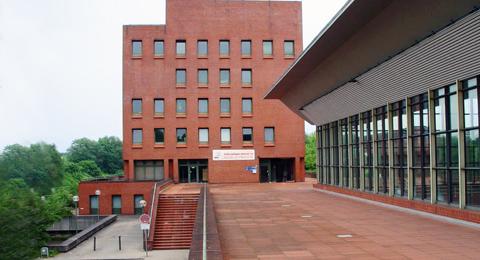Das Sportforum der Christian-Albrechts-Universität zu Kiel in Teilansicht